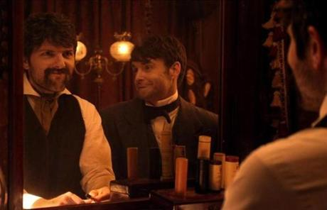 Adam Scott as John Wilkes Booth and Will Forte as Edwin Booth.
